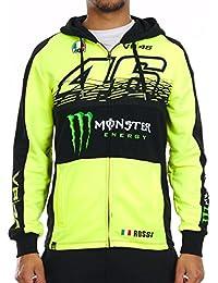 Sweat zippé à capuche Valentino Rossi Monster Energy Collection Sponsor Floresce