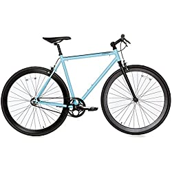 Moma - Bicicleta Fixie, Fixed Gear & Single Speed , Azul, M-L (1,60-1,75m)