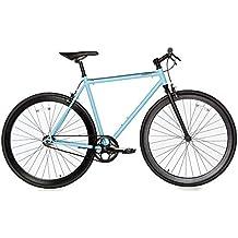 Moma - Bicicleta Fixie, Fixed Gear & Single Speed , Azul, L-XL (1,76-1,95m)