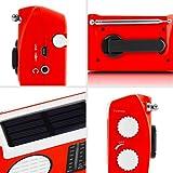 Duronic Hybrid Radio AM / FM – Solarenergie und USB-Ladegerät – Ideal für Camping, Wandern, zu Hause oder im Garten / Aufladbare Kurbel - 5