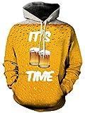 Bfustyle Unisex 3D Gedruckt Hoodie Drawstring Getränke Freche Weihnachtsgeschenk Sweatshirt mit Großer Tasche