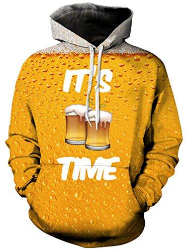Bfustyle Unisex 3D gedruckt Hoodie Drawstring Getränke freche Sweatshirt mit großer Tasche