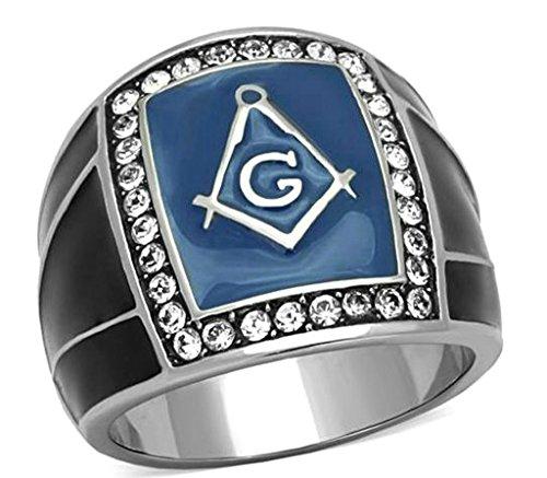 Daesar Vergoldet Ring Männer Blue Ring mit Stein Freeson Ring für Männer Größe:57 (18.1) (Line Clutch)