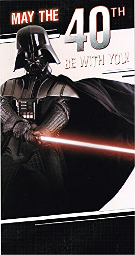 Star Wars 40th Birthday Card Darth Vader