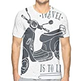 3D Printed T Shirts,Sketch Scooter with to Travel is to Live Quote Hand Drawn Design S