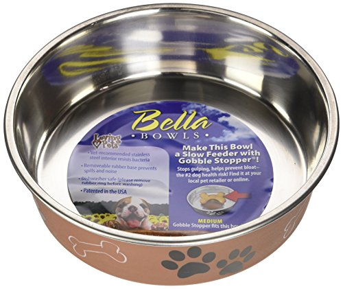 Loving Pets 1781 Metallic Bella Schüssel Dog Bowl, M, 750 ml, Kupfer