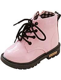Zapatos para niños Moda Niños Niñas Ankle Sneaker Botas de Nieve Gruesas de Invierno Zapatos Casuales para bebés Zapatos Antideslizantes Suaves LMMVP