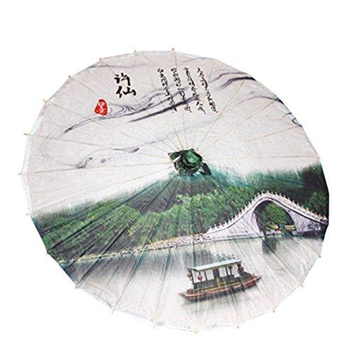 Freahap Ölpapier Regenschirm Chinesischen Bambus Sonnenschirm Brücke (Bambus-brücke)