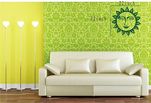 Large--Easy instant decoration wall sticker wall mural boy girl kids baby nursery room butterfly sun FL791