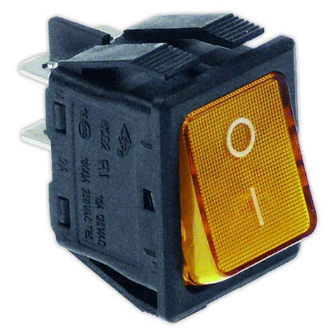 DOJA Industrial   Interruptor 22x30 mm II ambar con piloto   Interruptores