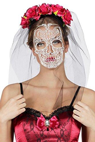 (Tag der Toten Haarreif Schleier zum Kostüm Halloween Day of the Death Karneval)