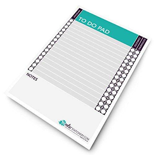 Monster Schreibwaren - To Do Pad A5, täglicher To-Do-Planer, Schreibtischplaner, Zeitplan, To Do -...