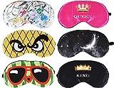 6x Schlafmaske Augenmaske mit Elastikband angenehmer Tragekomfort Spaß Motiv