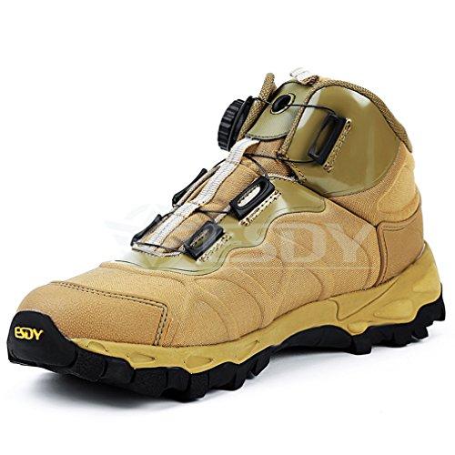 emansmoer Homme Imperméable Respirant Outdoor Sport Chaussures de Randonnée Trail Trekking High-top Armée Combat Bottes Kaki