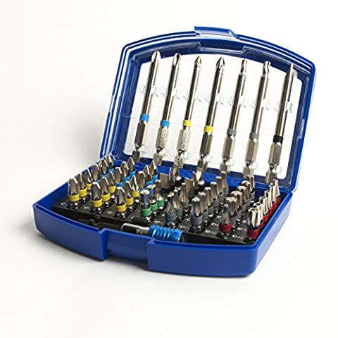 56 Piece S2 Steel Screwdriver Magnetic Bit Accessory Set