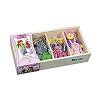 Andreu Toys 26.5 x 13 x 5.5 cm Family Wardrobe Teddy Bear (Multi-Colour)