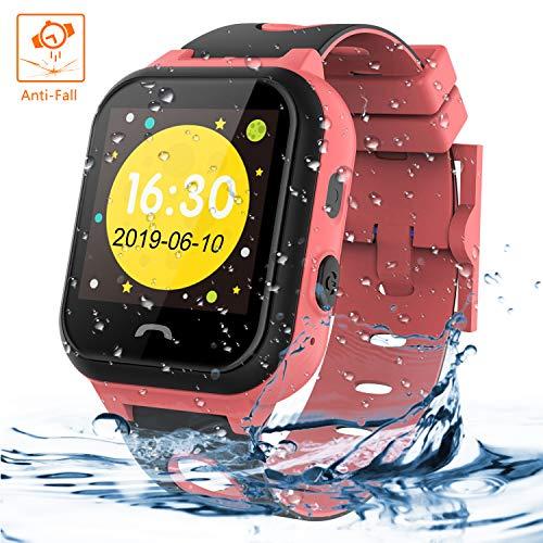 sserdichte, Vannico Touchscreen Smart Watch Phone für Kinder Smart Watch Uhr für Jungen und Mädchen mit SOS (S18-Rosa) ()