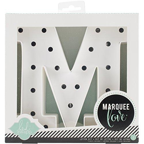 Heidi Swapp Marquee Love Buchstaben M, Papier, weiß, 12.5 x 12 x 0.4 cm