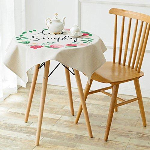Plantes d'art peintes à la main tables rondes nappes coton linge à manger tables armoires latérales armoires TV couvrent serviettes table à café couverture serviette tissu de couverture ( Size : 140x140cm )