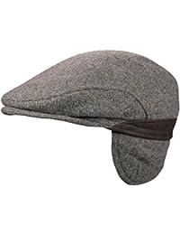 Wegener - Herren - Schirmmütze Wollmütze Schiebermütze Flatcap Kappe Mütze Ohrenklappen Wintermütze Schieberkappe - 6318 68