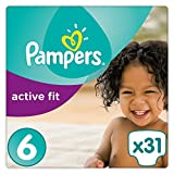 Pampers - Active Fit - Couches Taille 6 (15+ kg) - Pack Géant (x31 couches)