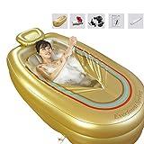 Tragbare große aufblasbare Badewanne, Familien-Massage-heißes Frühlings-aufblasbares Bad-Fass, bequeme erwachsene aufblasbare Wanne SPA, Goldumwelt PVC und elektrische Luftpumpe