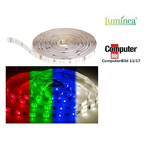 Luminea Zubehör zu Leuchtstreifen: RGBW-LED-Streifen LAX-515, 5 m, 840 Lumen, warmweiß, dimmbar, IP44 (LED RGB Stripe)