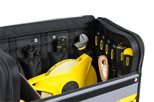 Stanley Werkzeugkoffer / Werkzeugtasche mit Rollen, (44.5x25.5x42cm, wasserfester Kunststoffboden, Trolley aus strapazierfähigem und robustem 600x600 Denier Nylon, viele Verstaumöglichkeiten) 1-97-515 - 8