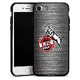 DeinDesign Apple iPhone 7 Silikon Hülle Case Schutzhülle 1. FC Köln Metall Look Fussball