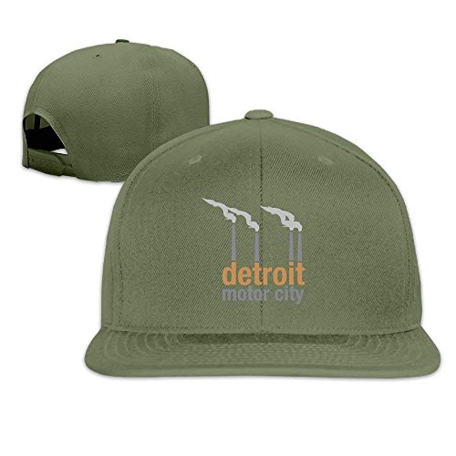 Koch Fitted T-shirt (yiyuanyuantu Motor City Detroit Unisex Causal Fitted Flat Bill Boarder Hat for Men and Women)
