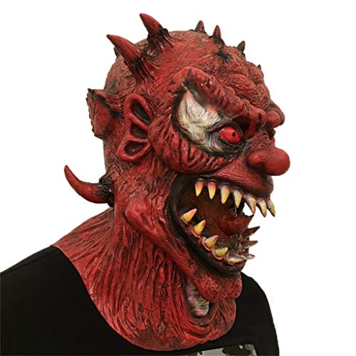 Masken Halloween Latex Kopf Maske, Horror Dämon Monster Teufel Maskerade Blutiger Zombie Ghost Creepy Kostüm (Farbe : A)