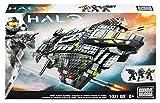 Mattel Mega Bloks CNG71 - Halo - UNSC Vulture Gunship, Bau- und Konstruktionsspielzeug