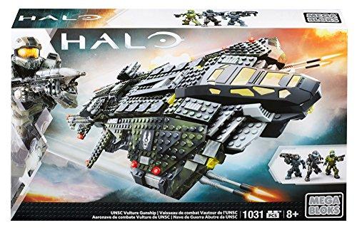 Mattel Mega Bloks CNG71 - Halo - UNSC Vulture Gunship, Bau- und Konstruktionsspielzeug (Mega Halo-waffen Blocks)
