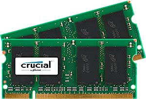Crucial Sodimm Laptop Memory Upgrade (2GB Kit - 1GBx2,200-pin,DDR2 PC2-5300,Cl=5 1.8v)