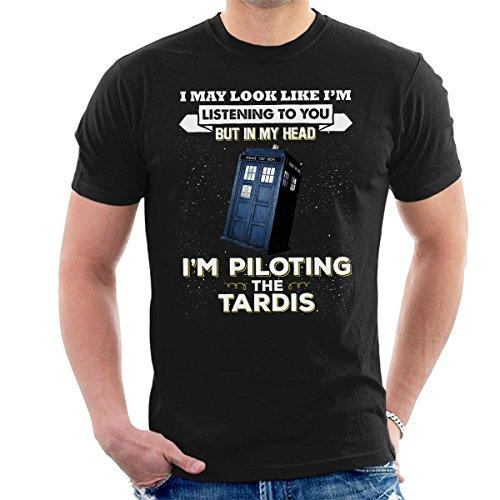 I'm Piloting the TARDIS Men's Funny T-shirt