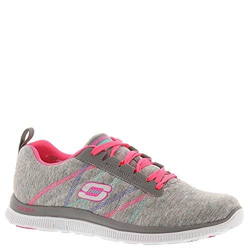 Skechers - Flex Appeal - Miracle Work, Scarpe sportive Donna Light Gray/Pink