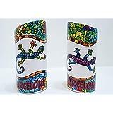 Juego de Salero y Pimentero en cerámica, diseño Gaudi Barcelona, Souvenir