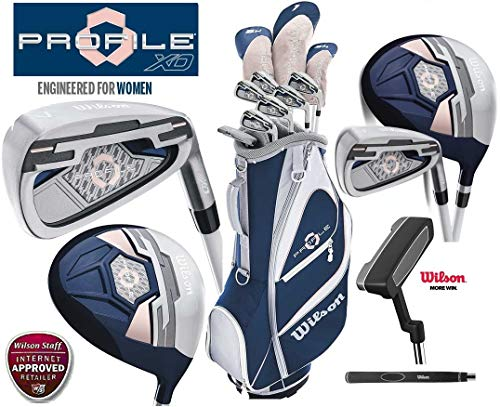 Wilson Profile XD Package Damen Golf-Set mit Regenschirm & Society Tee Pack