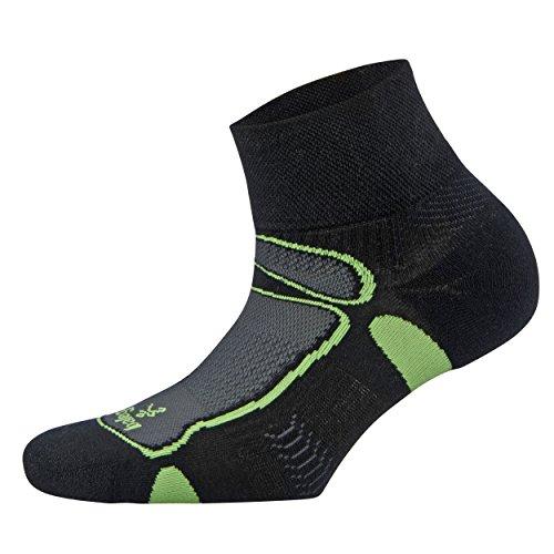 Balega Ultralight Quarter Athletic Running Socken für Damen und Herren Medium schwarz/Lime