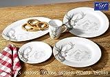 Flirt By R&B Weihnachtsgeschirr Hubertus Größe Servierplatte oval 35,5 cm Hubertus