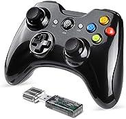 EasySMX Joystick, Controller Wireless, KC-8236 Gamepad Wireless 2.4G, Doppia Vibrazione, 8 Ore di Riproduzione