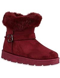 bcfc275531 Stiefelparadies Damen Stiefeletten Winter Boots Warm Gefüttert Flandell