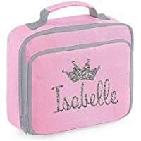Personalised Name Crown Lunch Bag School Bags Boys Personalised Girls Back to School Lunch Box