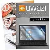 uwazi 3X Schutzfolie passend für Medion Akoya E4254 Notebook Displayschutzfolie Glas-klar Folie