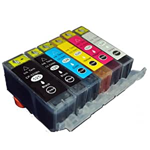 Compatible Canon Pixma MG6250 Ink Cartridges - One Of Each Colour Including Grey (6-Pack)