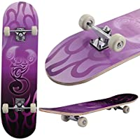 GYMAX Kids Skateboard Complete Cruiser Retro Skater Maple Wood Deck PU Wheel