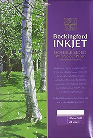 Bockingford 933 A4 190 gsm Inkjet Watercolour Paper (Pack of 20)