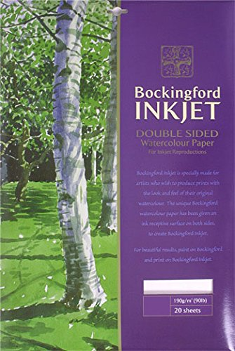 Bockingford 933A4190gsm Aquarell Inkjet Papier (20Stück) - Edition Tintenstrahldrucker
