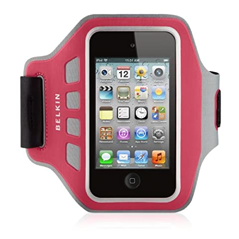Belkin F8W018cwC01 Neoprene Ease-Fit Armband for iPod Touch (4th Generation) - Pink