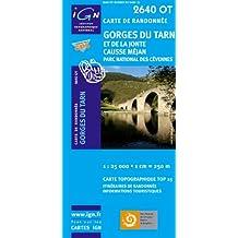 Gorges du Tarn  1 : 25 000: Et de la Jonte Causse Méjan, Parc National des Cévennes